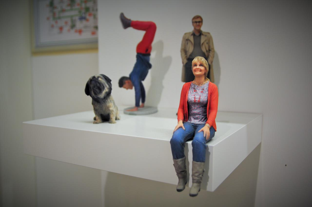 Figurenwerk Berlin: Kleine, lebensechte Kopien von Menschen in 3D