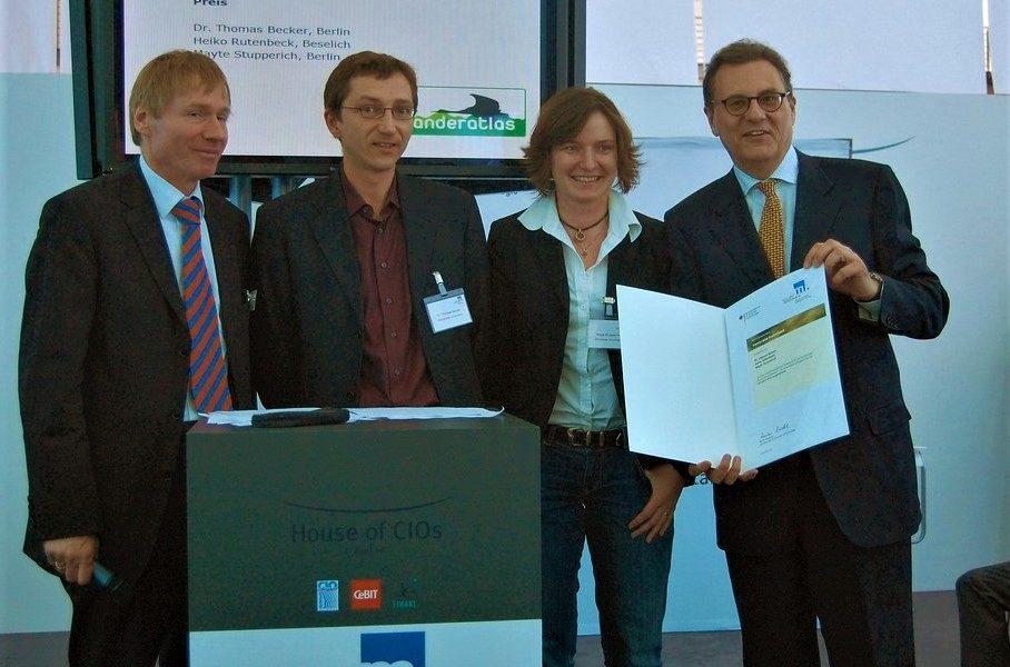 GPS Wanderatlas (Wanderatlas Verlag) erhält renommierten Gründerpreis des Bundeswirtschaftsministeriums
